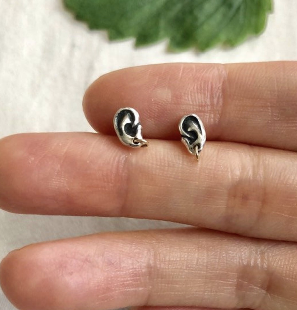 Ear Earrings with Gold Hoops thumbnail