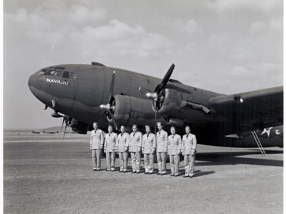 TWA transferred its entire fleet of five Boeing 307s, along with their flight crews, to the ATC. The airline opened regular transatlantic service in 1942.