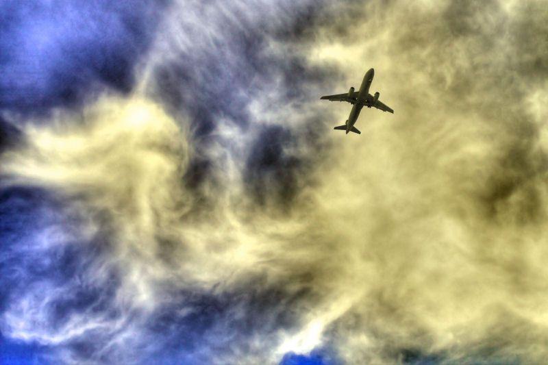 Plane in bumpy air
