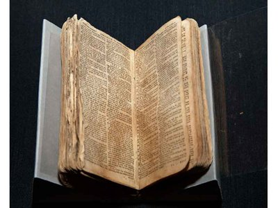 It is thought that Nat Turner was holding this Bible when he was captured two months after the rebellion he led against slaveholders in Southampton County, Virginia.