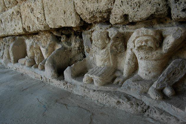 Monkeys supporting Jain Temple Pakistan
