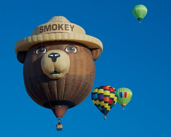 Hot Air Balloons - Only you can prevent forest fires! thumbnail