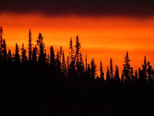 Sunrise Moon Lake Alaska 2 thumbnail