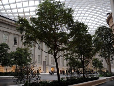 Some exhibitions, galleries, interactives, theaters or indoor spaces may be closed or operating at limited capacity, but the Kogod Courtyard at Smithsonian American Art Museum and the National Portrait Gallery is always a pleasant place to relax.