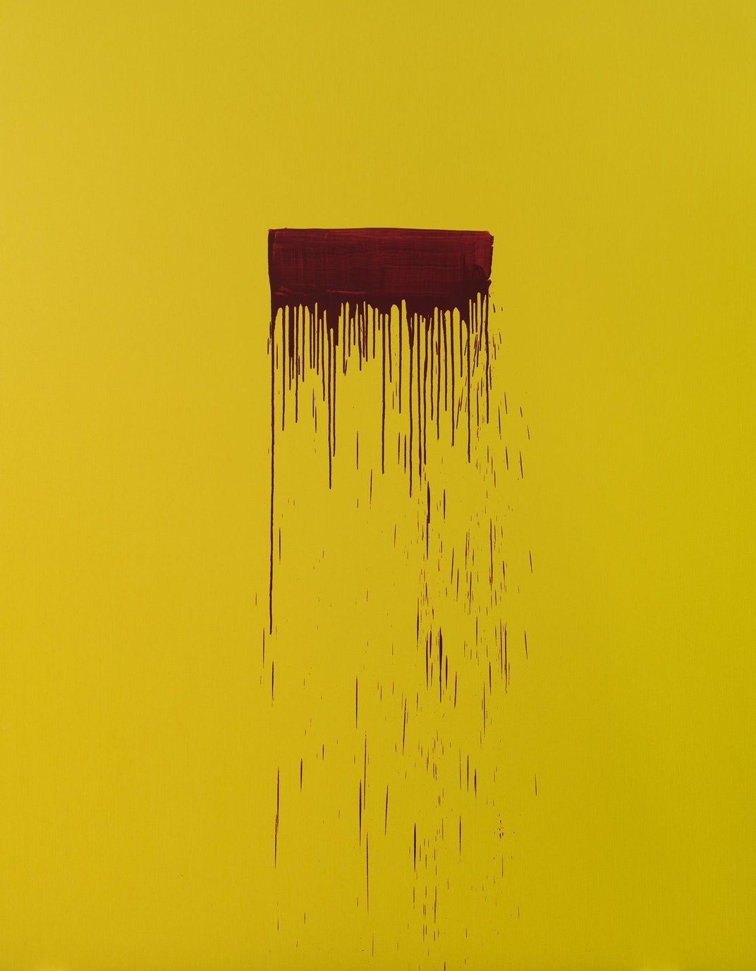 Yellow canvas with red