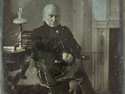 This March 1843 portrait, taken in Washington, D.C., is the oldest known original photo of a U.S. president.