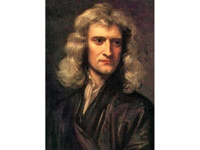 A portrait of scientist Isaac Newton, who developed a toad vomit–based cure for the bubonic plague