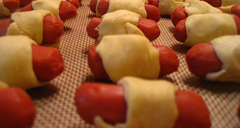 """Making pigs in a blanket was a """"true test of patience and stealth"""" for the author"""