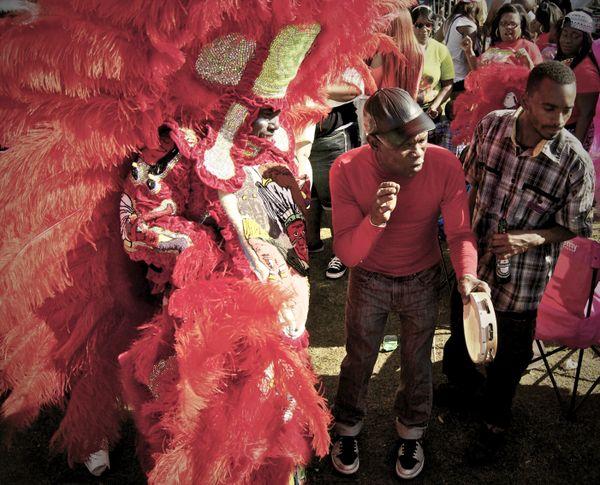 Mardi Gras Indian at Super Sunday, New Orleans (3) thumbnail
