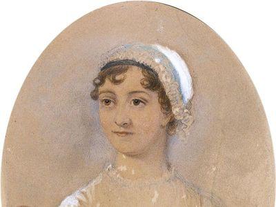 """James Andrews, """"Jane Austen"""" (1869), watercolor"""