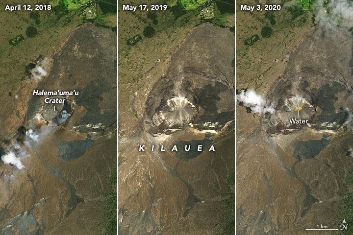 NASA Photos Reveal a Lake of Water—Not Lava—on Kīlauea Volcano