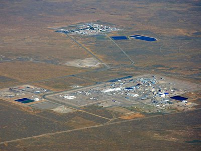 An aerial view of part of the Idaho National Laboratory.
