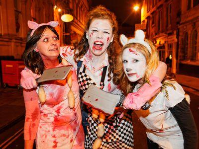 Halloween party in Bristol.