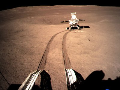 Yutu-2 sets off on its inaugural journey.