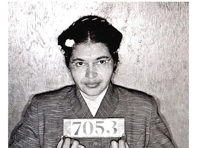A booking photo from Rosa Parks' arrest on December 1, 1955.