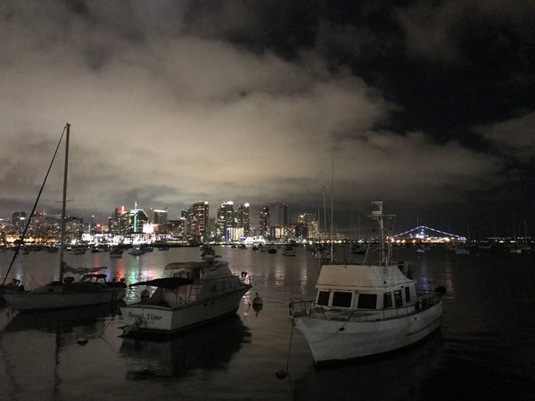 San Diego at night thumbnail