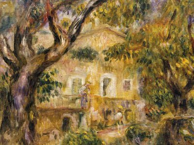 Renoir's home in Cagnes-sur-Mer, in the South of France, was a source of inspiration (The Farm at Les Collettes, 1914).