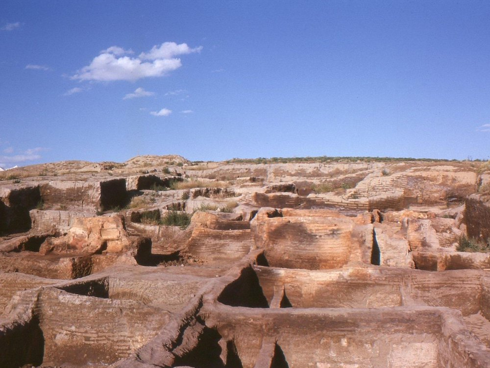 Çatalhöyük_after_the_first_excavations_by_James_Mellaart_and_his_team..jpg