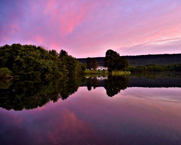 Sunrise at Memorial Lake State Park, Pa. thumbnail