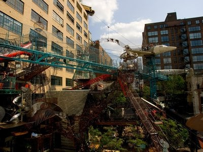 """""""MonstroCity,"""" the outdoor section of St. Louis' City Museum"""