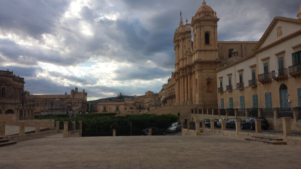 Storm clouds approaching in Noto, Sicily. thumbnail