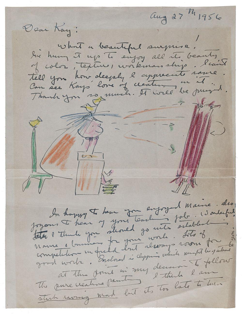 Letter from Miné Okubo to Kay Sekimachi Stocksdale