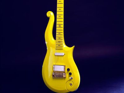 This 1989 custom-made guitar was designed by Prince and constructed by a small company, Knut-Koupee Enterprises, in Minneapolis, Minnesota. (NMAH)