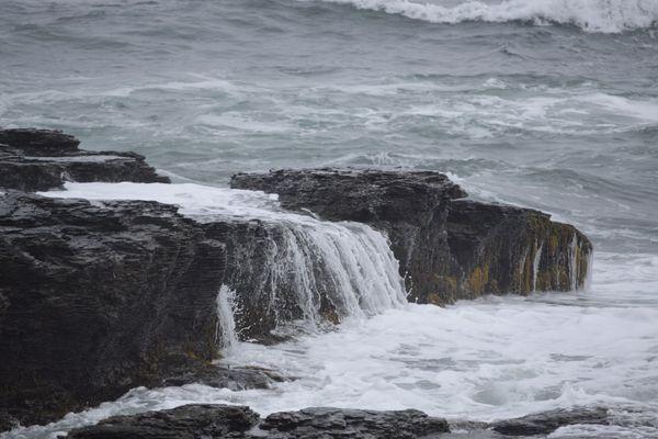 Choppy water gives way to cascading falls thumbnail