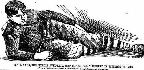 Richard Von Gammon, a football casualty of 1897