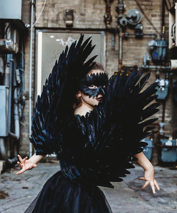 A look through the lens - dressing up as black swan thumbnail