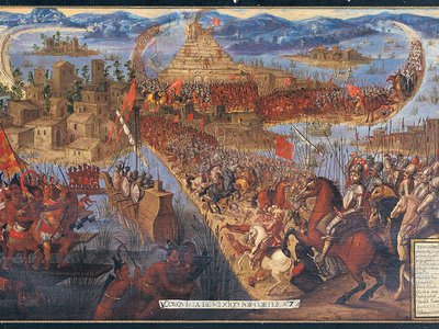 Approximately 500 years ago, Spanish forces laid siege to the Aztec capital of Tenochtitlán.