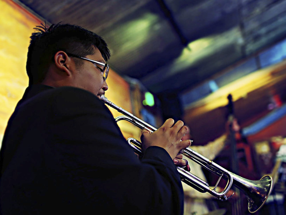 Jazz performer and composer Delbert Anderson (Navajo). (Shutterfreek Photography)