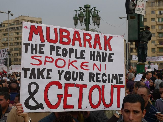 Protesters really in Tahrir Square in 2011