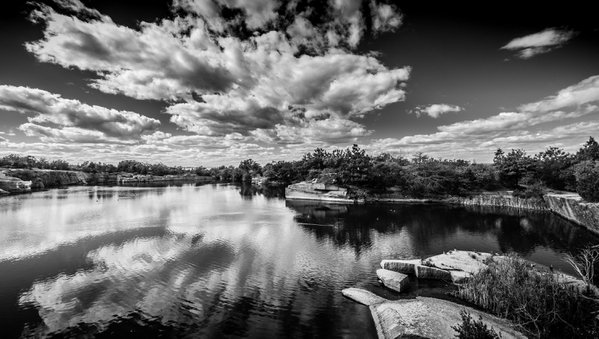 Reflections at Halibut Point State Park thumbnail