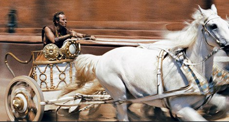 The famous chariot race form Ben-Hur before and after the restoration.