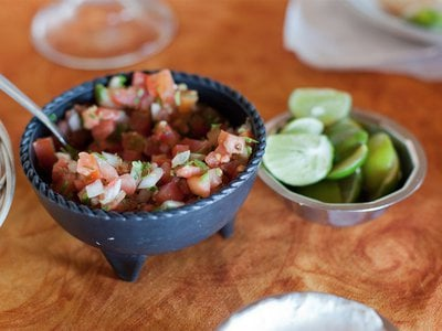 Just one bite of Pico de gallo is a party of flavors.