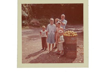 Emilio Sanchez with children in Puerto Rico, 1964. Emilio Sanchez papers, 1922-2012.