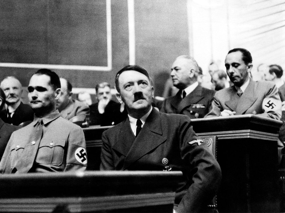 Hitler at Reichstag session