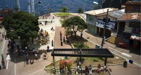 Parque de los Niños, a redeveloped space in Medellín, Colombia