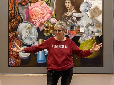 """""""Titian made art into his late 80s and I'm now past that. I always wanted to paint like an old master, or rather an old mistress,"""" says the photorealist painter and sculptor Audrey Flack. """"A radical contemporary old mistress."""""""