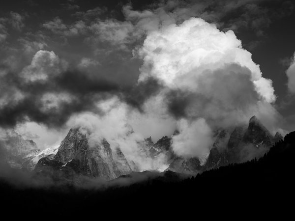 Clouds Over the Mount Blanc Massif thumbnail