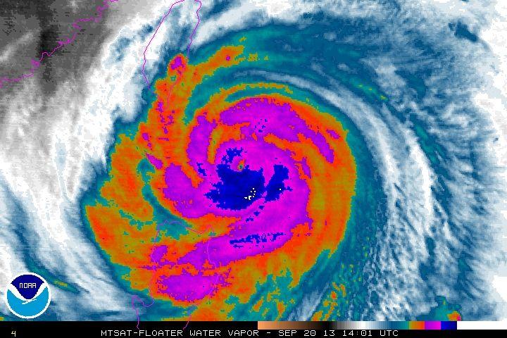 Hurricane Usagi as of 8 am eastern time, 8 pm local time