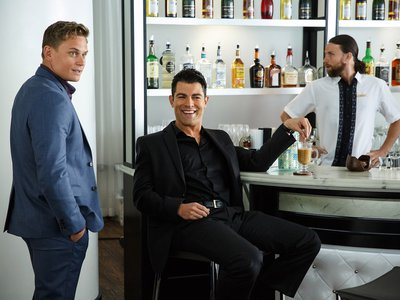 A still from the 2015 film The Big Short, featuring actors Billy Magnussen and Max Greenfield.