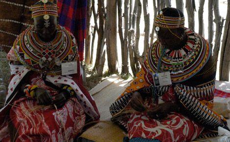 Kenyan basket weavers at the 2011 Smithsonian Folklife Festival