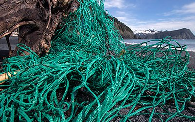 Fishing net at Alaska's Gore Point