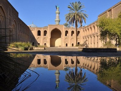 The Mustansiriya was built during the 13th century.