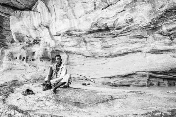 The guardian of rock art of Laas Geel in Somaliland thumbnail