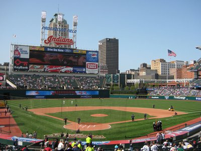 A view of Progressive Field, the team's home arena, in Cleveland, Ohio, in 2008