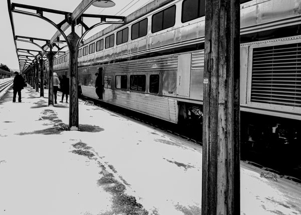 On the Rails in the Snow thumbnail