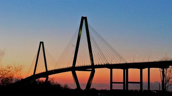 Arthur Ravenel Bridge at Sunset thumbnail